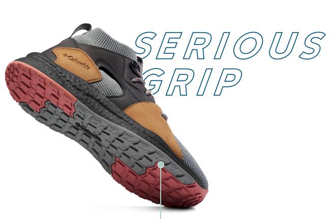 SH/FT shoe, showing outsole, Serious Grip.